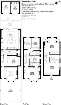 6 bedroom semi-detached house for sale in Palewell Park, East Sheen, London, - Rightmove. Kitchen Extension Terraced House, House Extension Plans, House Extension Design, Extension Designs, House Design, House Layout Plans, House Layouts, House Floor Plans, Mews House