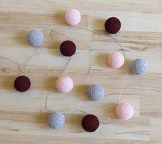 • www.facebook.com/wloczy.sie • Handmade cotton ball lights/ Home decor