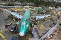 The money shot: 747 line inside the Boeing factory