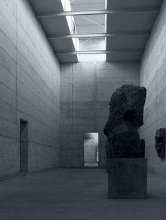La Congiunta; a sculpture gallery for artist Hans Josephsohn in Giornico, Switzerland by PETER MÄRKLI