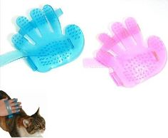 Pet Healthcare Bath Massage Glove Brush Comb Pet Dog Cat Fingers Brush Hand Shampoo Grooming Washing Tool