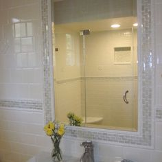 Tile Mirror Frame Design Ideas, Pictures, Remodel and Decor