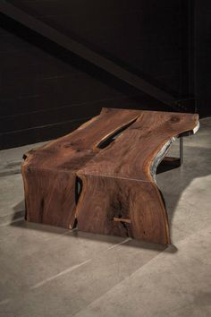 For Sale on - This unique walnut slab coffee table is one of a kind. The woodworking techniques and joinery used on this item enhance the grain and bring out the natural Natural Wood Furniture, Live Edge Furniture, Resin Furniture, Cool Furniture, Garden Coffee Table, Walnut Coffee Table, Walnut Slab, Wood Slab, Diy Resin Table