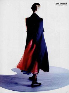 yohji yamamoto spring 1989 by benjamin kanarek for l'officiel no.745.