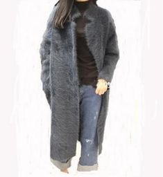 Genuine mink cashmere sweater women pure cashmere cardigan knitted mink jacket fashion winter long fur coat free shipping  018
