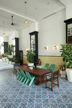 dining room at the american trade hotel in panama. by commune design.