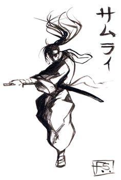 ink painting - SAMURAI by Nine-Bullet-Revolver on deviantART