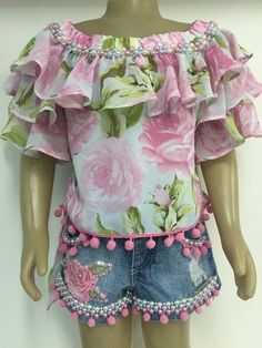 Anjo D'Agua Shorts e Blusa Anjo D'agua Moda Infantil 6450 na internet