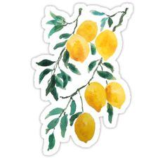 """yellow lemon Stickers by ColorandColor Preppy Stickers, Cute Laptop Stickers, Red Bubble Stickers, Phone Stickers, Anime Stickers, Journal Stickers, Cool Stickers, Printable Stickers, Journal Vintage"