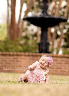 Gorgeous six month old baby girl session by Dabble Photography