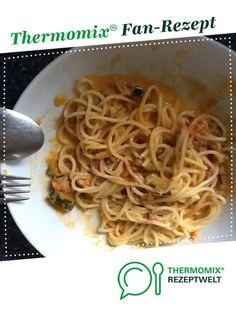 Spaghetti mit Zuccini-Schinken-Soße von Steckling. Ein Thermomix ® Rezept aus der Kategorie sonstige Hauptgerichte auf www.rezeptwelt.de, der Thermomix ® Community.