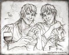 Calo and Galdo Sanza - Sketch by kejablank.deviantart.com on @Deviantart