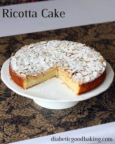 Ricotta Cake #lowcarb #lchf #diabetic #diabetes #banting #glutenfree #keto #ketosis