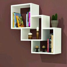 The newest catalog of corner wall shelves designs for modern home interior wall decoration latest trends in wooden wall shelf design as home interior decor trends in Indian houses Rack Design, Wall Shelves Design, Wooden Wall Shelves, Diy Shelves, Creative Bookshelves, Diy Furniture, Home Furniture, Apartment Interior Design, Bookshelf Design
