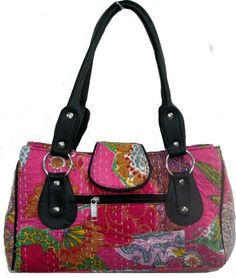 We are the leading manufacturer, supplier and exporter of the industry, presenting a wide array of Vintage Kantha Shoulder Bags. These Vintage Kantha Shoulder Bags are widely demanded by the clients for their beautiful designs and appearance. Our Vintage Kantha Shoulder Bags are stitched precisely using supreme quality stitching machines. The offered Vintage Kantha Shoulder Bags are made using high grade fabric which is known for their wear and tear resistant nature.