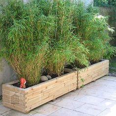 HOQ Pflanzkasten 150x50x40 rechteckig Pflanztrog Pflanzkübel aus Holz montiert