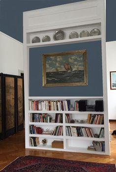 Parete divisoria  salotto- cucina designer Piera Morseletto