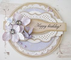 Gitte's beautiful birthday card!