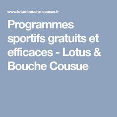 Programmes sportifs gratuits et efficaces - Lotus & Bouche Cousue