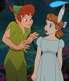 Peter & Wendy by Ana Magica Disney Pixar, Old Disney, Disney Animation, Disney Love, Disney Art, Disney Songs, Disney Quotes, Wendy Peter Pan, Peter Pan 1953