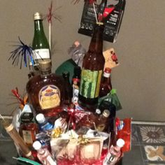 40th Birthday Basket My Husband Got This For His From Our Friends They