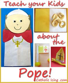 Lots of great crafts, printables, and links to teach kids about the Pope. Perfect for the upcoming election!