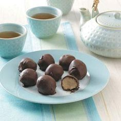 Buckeyes Recipe -These candies are always popular at my church's annual Christmas fund-raiser.—Merry Kay Opitz, Elkhorn, Wisconsin