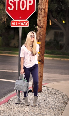 Jeans & a White T Outfit No. 20 ~ Curb Appeal