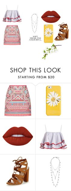 """""""Untitled #281"""" by dreamarie151 on Polyvore featuring Accessorize, Kate Spade, Lime Crime, Lipsy, Lucky Brand and Folio"""