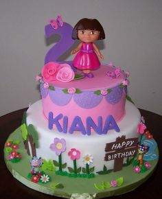 Looks like its going to be a Dora party theme for Mackie's 3rd Birthday