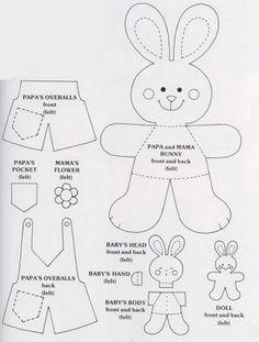 Free Felt Bunny Pattern by morgan