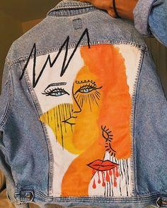 Abstract art, painted denim jacket, vintage denim, street style DIY, nyc artist Source by kaeeclark Jackets Diy Clothing, Custom Clothes, Modest Clothing, Denim Fashion, Look Fashion, Fashion Fashion, Dress Fashion, Fashion Tips, Fashion Trends