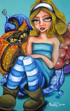 size: Giclee Print: Alice in Ugg Boots by Cherie Roe Dirksen : Alice In Wonderland Poster, Pastel Artwork, Oil Painting For Sale, Ugg Boots, Giclee Print, Art Print, Original Artwork, Uggs, Canvas Prints