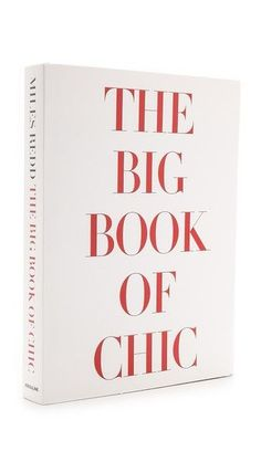 42 best good reads images on pinterest coffee table books books favorite coffee table books the big book of chic sold at blue print blueprintstore malvernweather Images