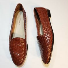 52d5449aa55d Trotters Womens Liz Brown Leather Woven Slip On Loafers Flats Size Brazil  in Clothing, Shoes & Accessories, Women's Shoes, Flats