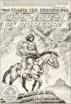 John Buscema and Ernie Chan Conan the Barbarian #108 Splash Page 1 | Lot #92035 | Heritage Auctions