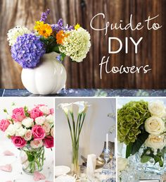 DIYing your flower arrangements? Check out this DIY flower guide with links to tutorials!