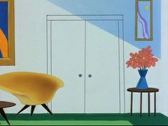 Bugs Bunny cartoon with Ray #Eames fiberglass shell chair
