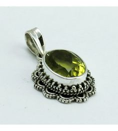 Rare King !! Lemon Topaz 925 Sterling Silver Pendant, Weight: 5.8 g, Stone - Lemon Topaz, Size - 3.2 x 1.8 cm, Wholesale Orders Acceptable, All Pieces have 925 Stamp