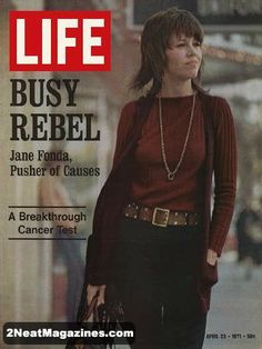 Jane Fonda, April, 1971.