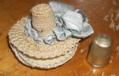 Antique Handmade Crocheted Hat Needle Holder by Gypsygirltrinkets, $22.00