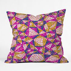 Sarah Bagshaw Linocut Throw Pillow | DENY Designs Home Accessories