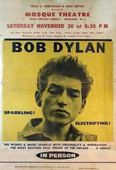 Bob Dylan Concert Poster performing in Newark NJ.