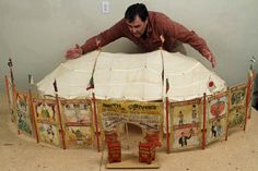 Miniature Circus. I love miniature toys and I love circus themes so I LOVE this miniature circus. I love all the pictures from this site. Now I want to make my very own miniature circus.