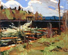 Tom Thomson - Tea Lake Dam. 1915