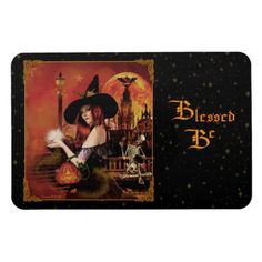 Blessed Be Magical Witch Digital Art Magnet. #Pagan #Magnet #Witch