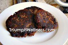 Vegan Mushroom Pecan Burgers Vegan Veggie Burger, Vegan Burgers, Vegan Vegetarian, Vegan Food, Burger Dogs, Vegan Main Dishes, Veggie Recipes, Pecan, Stuffed Mushrooms