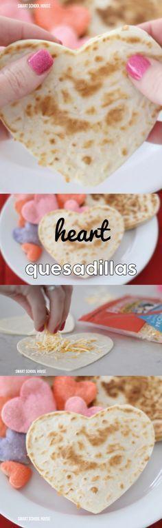 Heart Quesadillas - for Valentine's Day. So cute!