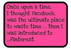 I'm hardly ever on FB now! It's so true.
