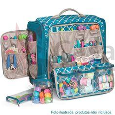 Organizador We R Memory Keepers 360 Crafter's Bag Scrapbooking Paper Craft Storage Tote Trolley Bag 70962-6 - CasaDaArte